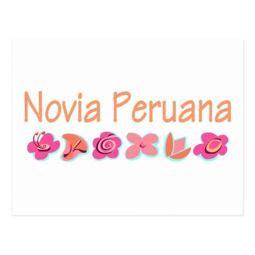 Novia Peruana Postcard