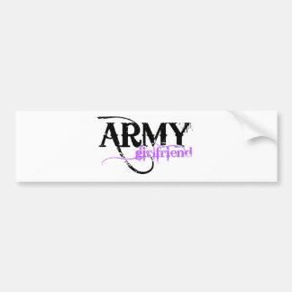 Novia púrpura del ejército pegatina para auto