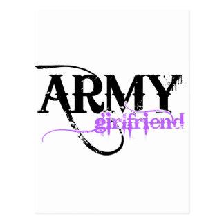 Novia púrpura del ejército tarjeta postal