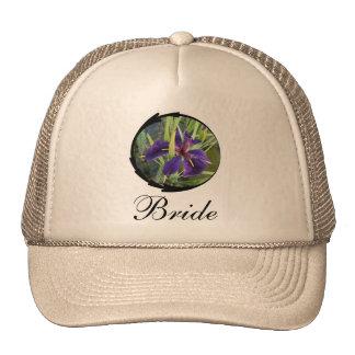 Novia púrpura del iris del agua gorros