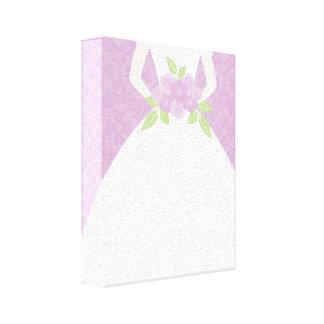 Novia púrpura impresiones en lienzo estiradas