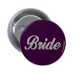 Novia púrpura oscura con bling pin