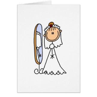 Novia que consigue lista para la invitación de bod tarjeta de felicitación