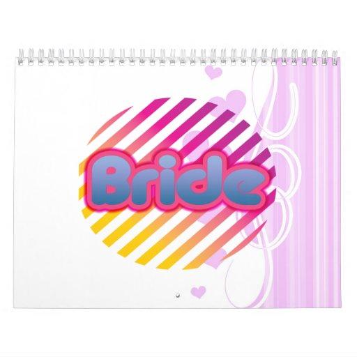 novia rosada a ser bachelorette que casa al fiesta calendarios de pared