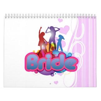 novia rosada azul de baile a ser señora futura calendarios de pared