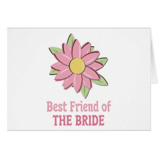 Novia rosada Bestfriend de la flor Tarjeta De Felicitación