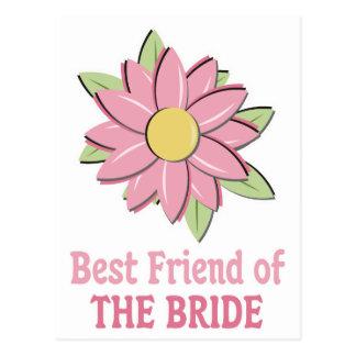 Novia rosada Bestfriend de la flor Postales