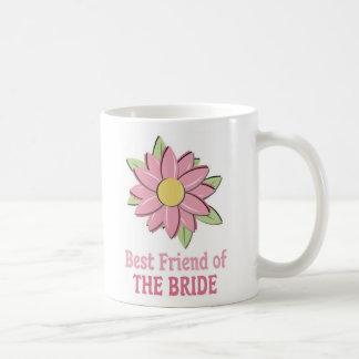 Novia rosada Bestfriend de la flor Taza Básica Blanca