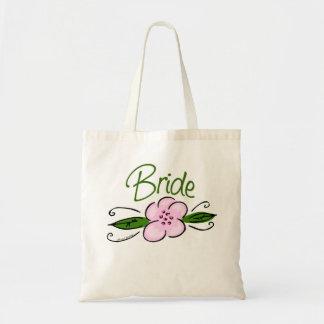 Novia rosada de la flor bolsa tela barata