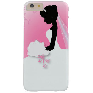novia rosada linda moderna de la silueta de la funda de iPhone 6 plus barely there