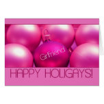 Novia - tarjeta feliz de Holigays (Navidad de la l