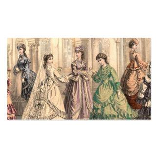 Novia y asistentes del vintage tarjetas de visita