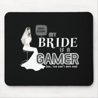 Novia y boda del videojuego alfombrillas de ratón