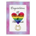 novia y enhorabuena lesbiana gay de la novia felicitacion