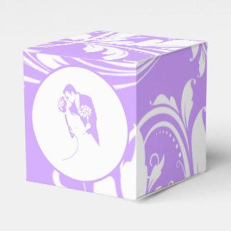 Novia y novio 01 purpúreos claros caja para regalos