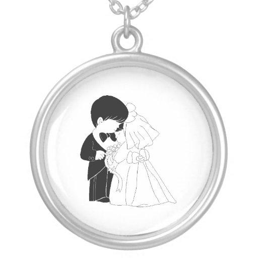 novia y novio atractivos pendientes personalizados