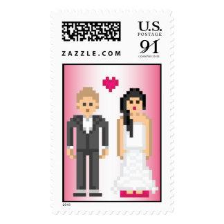 novia y novio de 8 bits del pixel