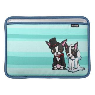 Novia y novio de Boston Terrier Fundas Macbook Air