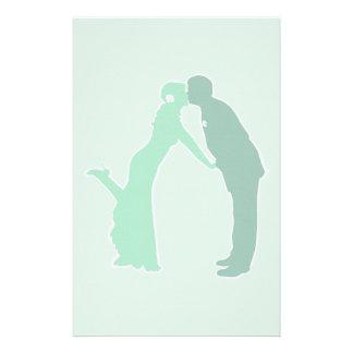 Novia y novio de la menta papeleria personalizada