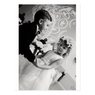 novia y novio del baile postal