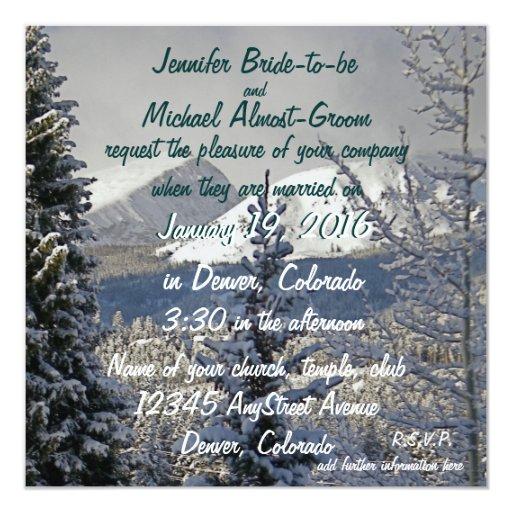 Novia y novio del boda del invierno invitaciones personalizada