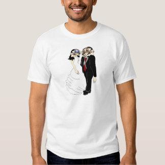 Novia y novio del tejón camisas