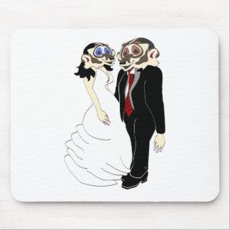Novia y novio del tejón tapetes de ratones