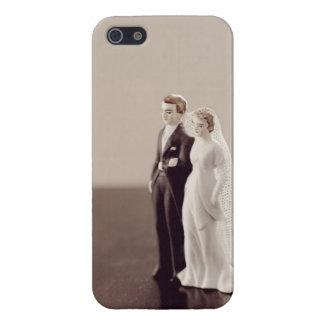 Novia y novio del vintage iPhone 5 carcasa