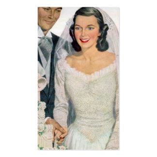 Novia y novio del vintage tarjetas de visita