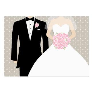 Novia y novio que casan la tarjeta del recinto del tarjetas de visita grandes