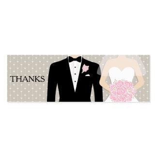 Novia y novio que casan la tarjeta libre del vale tarjetas de visita mini