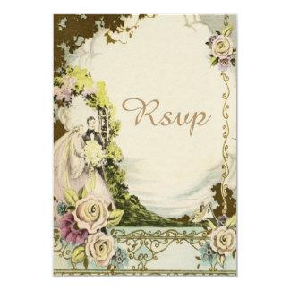 Novia y novio RSVP que se casa romántico elegante Invitación 8,9 X 12,7 Cm