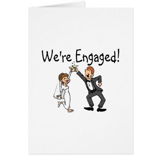 Novia y novio somos tostada dedicada tarjeta de felicitación