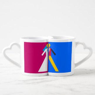 Novia y novio tazas para parejas