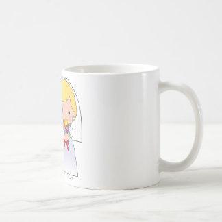 Novia y novio taza de café