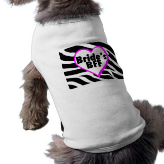 Novias BFF (estampado de zebra del corazón) Playera Sin Mangas Para Perro