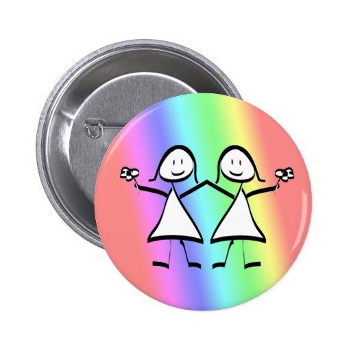Novias de la lesbiana del orgullo del arco iris pins