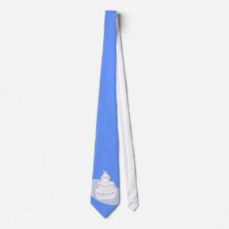 Novias del pastel de bodas dos corbatas personalizadas