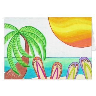 Novias el vacaciones tarjeta de felicitación