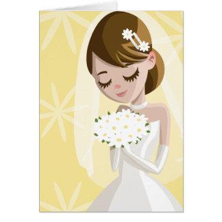 Novias hermosas tarjeta de felicitación