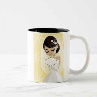 Novias hermosas taza de café