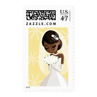 Novias hermosas timbres postales