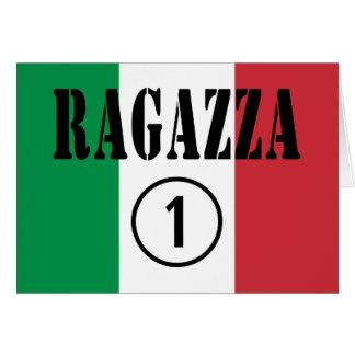 Novias italianas: Uno de Ragazza Numero Tarjeta De Felicitación