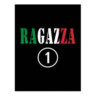 Novias italianas: Uno de Ragazza Numero Tarjeta Postal