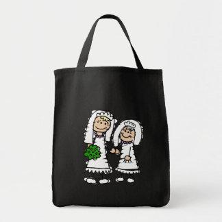 Novias jovenes y viejas bolsa tela para la compra