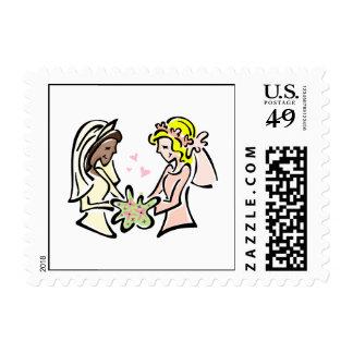 Novias lesbianas interraciales timbres postales