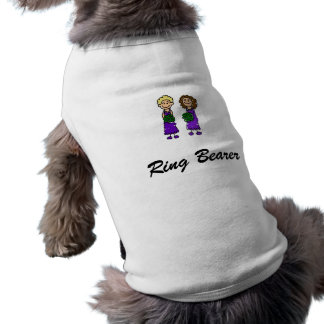 Novias lesbianas púrpuras camisa de mascota