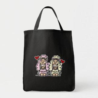 Novias lindas bolsa tela para la compra