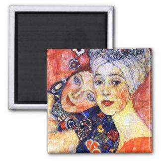 Novias por el arte Nouveau del imán de Klimt