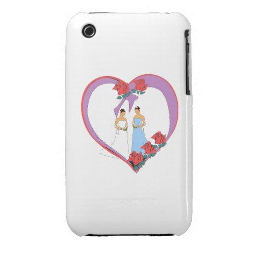 Novias/tarjeta del día de San Valentín iPhone 3 Case-Mate Cárcasa